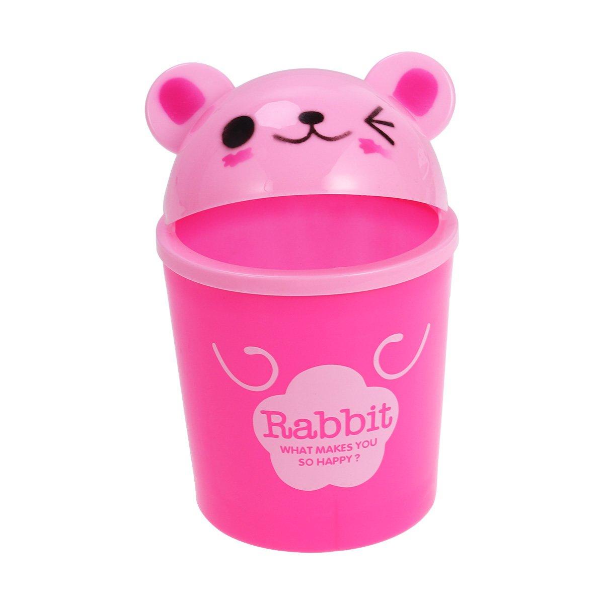 spazzatura stoccaggio /cute Animal desktop Trash can coniglio Mini pattumiera con coperchio/ pattumiera per uso ufficio cameretta dei bambini