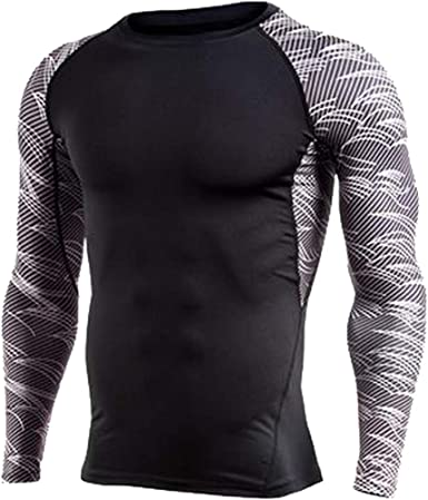 Details about  /Mens Compression Base Layer Top T-shirt Thermal Long Sleeve Under Shirt Gym Tee