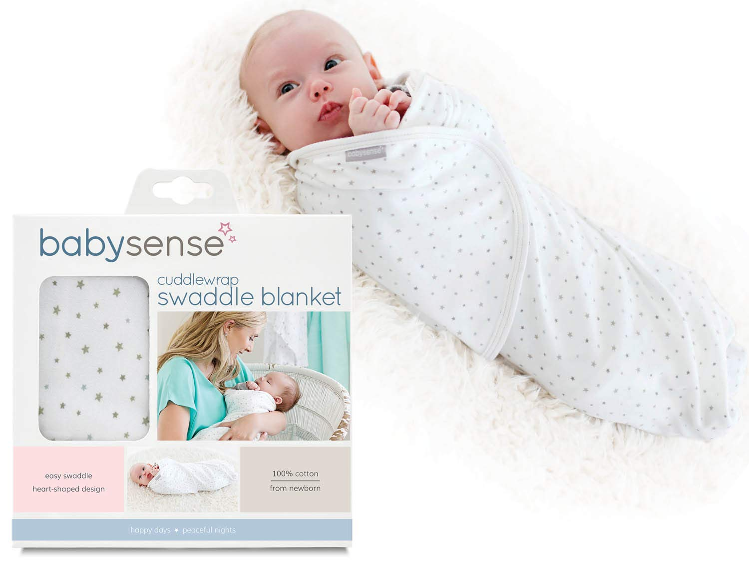 05dec17666 Amazon.com  Baby Sense Cuddlewrap Swaddle Blanket Award-Winning Baby Wrap