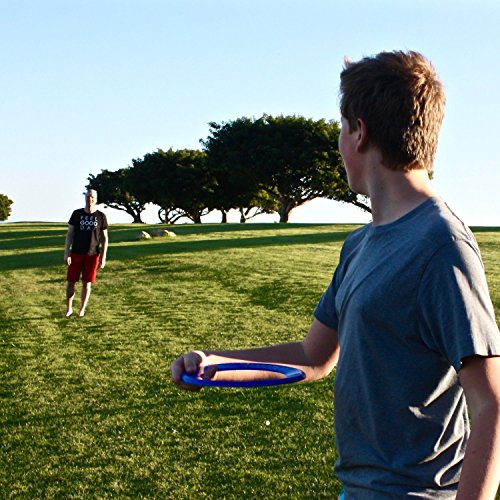 Best Kids Frisbee Rings [Red/Blue] Top Birthday Gifts Christmas Presents Xmas Stocking Stuffers - Cool Toys for _ Year Old Boys Girls and Fun Family Outdoor Games Love Hot Bday & Child X-mas Idea