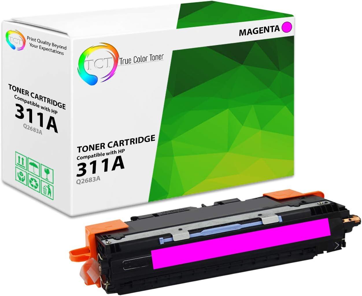 TCT Premium Compatible Toner Cartridge Replacement for HP 308A 311A Q2670A Q2681A Q2682A Q2683A Works with HP Color Laserjet 3700 3700DN 3700DTN 3700N Printers Black, Cyan, Magenta, Yellow 8 Pack