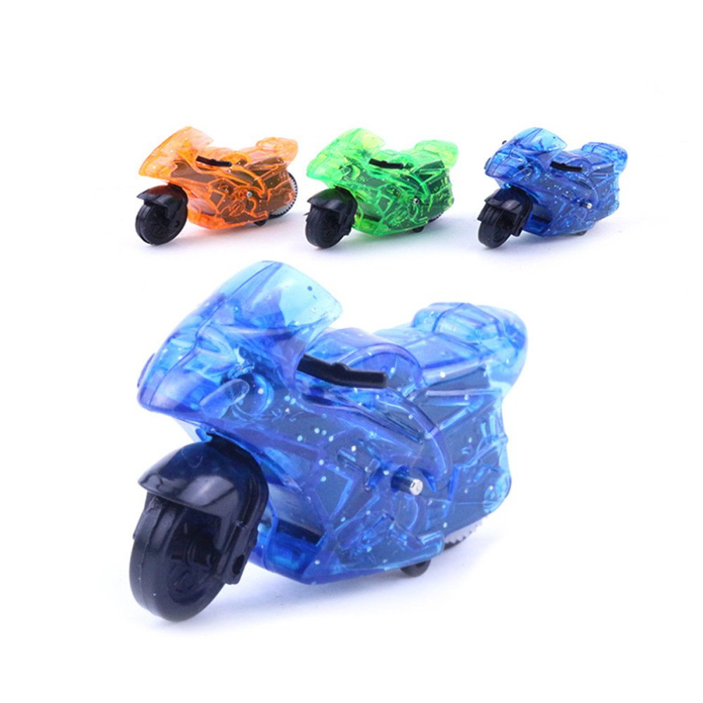 DICPOLIA Mini Motorcycle Toy Pull Back Diecast Motorcycle Early Model Educational Toys,Car Toys for Kids Toddlers Baby Boys Girls Adults Seat Model Toys Steering Wheel Car Toy Track,Car Toy (Random)