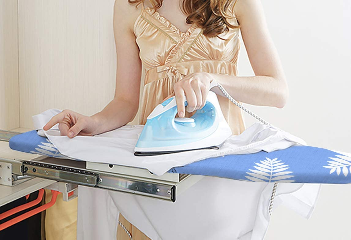 100/% Cotton and Heavy-Duty,Snugfit 12x42 Inch Ironing Board Cover and Pad