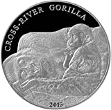 2013 CM Cross River Gorilla PowerCoin 1 Oz Silver Coin 1000 Francs Cameroon 2013 Proof