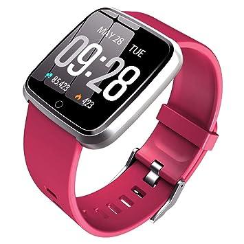 Pulsera Actividad, Pulsera Inteligente con Reloj con Pulsómetro Impermeable IP67 Podómetro Pulsera Deportiva Reloj para Xiaomi Samsung Huawei ...