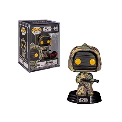 POP 2020 Shared Exclusive Star Wars #342 Futura Jawa (Camouflage): Toys & Games