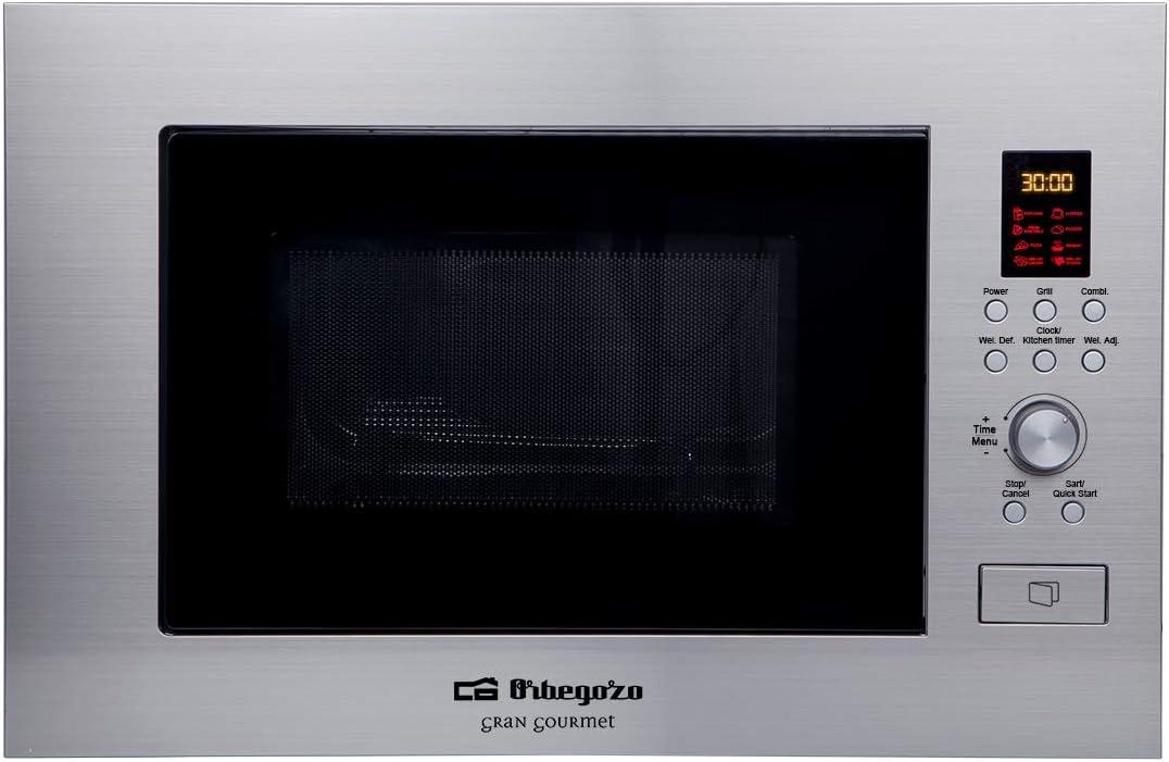 Orbegozo MIG 2330 - Microondas con grill integrable full INOX, 23 ...