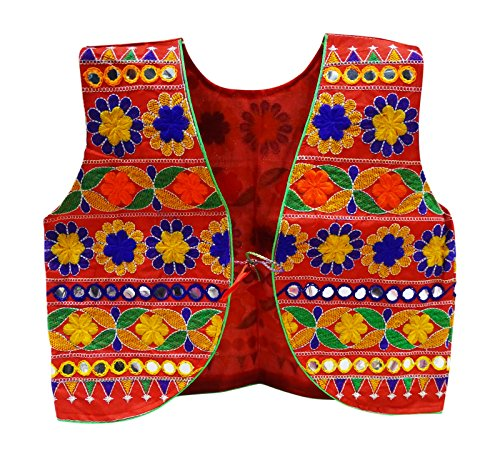 Peegli Traditional Rajasthani Jacket Women Shrug Koti Banjara Embroidered (Embroidered Shrug)