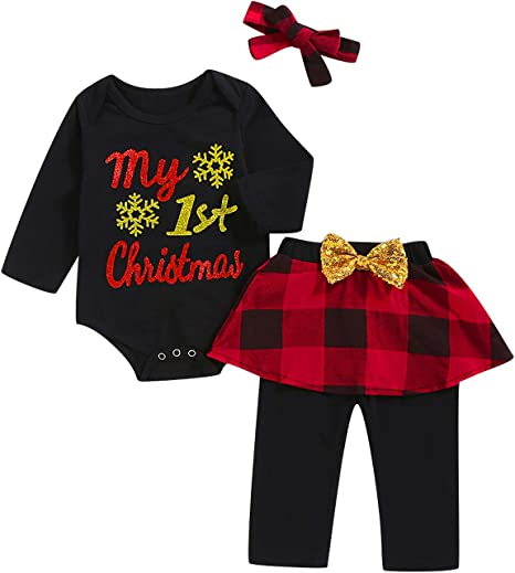 Amazon.com: Mutiggee - Conjunto de ropa para bebé y niña de ...