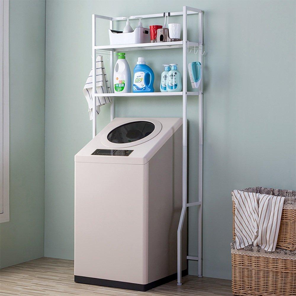 XRXY 多機能浴室棚/洗濯機クリエイティブラック/バルコニー収納ラック(2色オプション) (色 : 白)  白 B07KT1KK6R