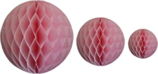 product image for Pink Honeycomb Balls, Set of 3 (12 inch, 8 inch, 5 inch)