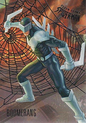 2017 Fleer Ultra Spider-Man Silver Foil Parallel Card #16 Boomerang
