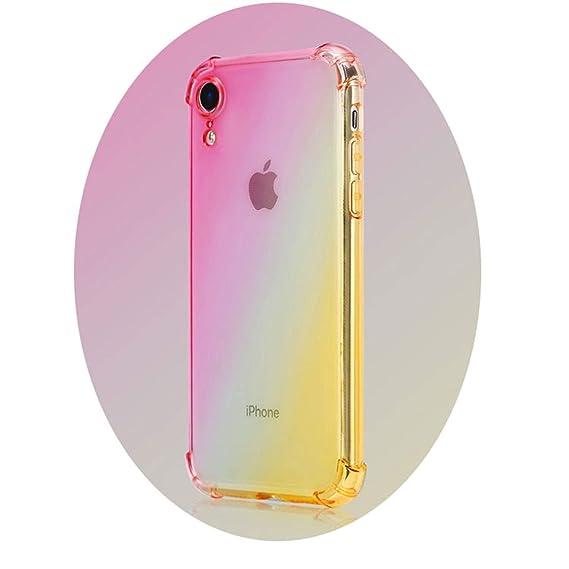 pretty nice c8679 976fd Amazon.com: New Double Color Gradient Case for iPhone XR X 8 Plus 7 ...