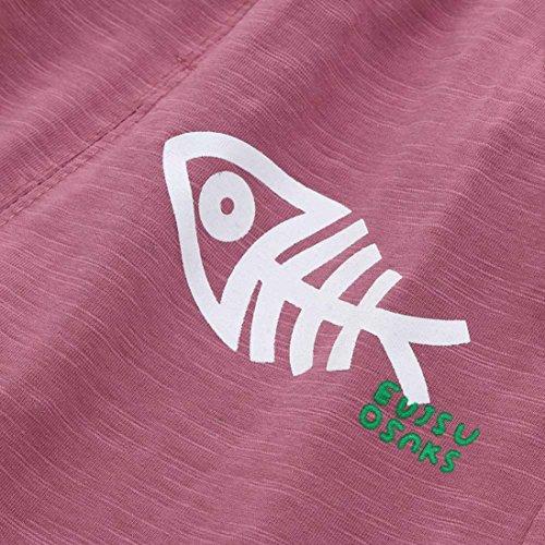 Transer Kleinkind Jungen T-Shirt Hosen Baby Kurzarm Fisch Knochen Print Tops Set Outfit Rd