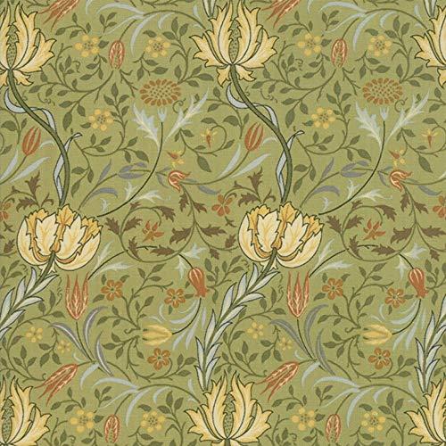 Moda Fabrics V and A Morris Garden Sage Flora 1891 ()