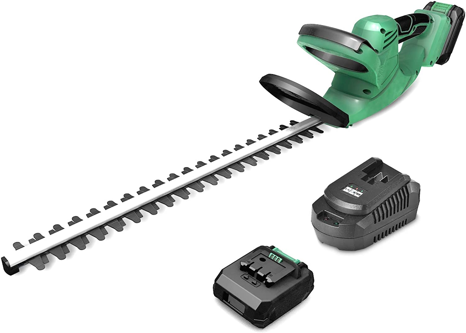 """KIMO 20V Cordless Hedge Trimmer w/ 2.0Ah Li-ion Battery, 6.8-lb Lightweight & Compact Dual Blades 5/8"""" Cutting Capacity 20-inch Battery Electric Pole Hedge Trimmer ET1609 for Hedges/Bushes/Branch"""