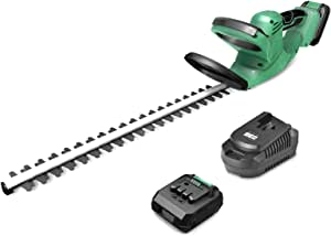 """KIMO 20V Cordless Hedge Trimmer, 24-inch, 6.8-lb Lightweight & Compact Dual Blades 5/8"""" Cutting Capacity, 2.0Ah Li-ion Battery Electric Pole Hedge Trimmer ET1609 for Hedges/Bushes/Yard"""