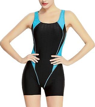 6b11934dcc0 Vocni(ワクニー)レディース 競泳水着 フィットネス水着 ワンピース 大きいサイズ 女性 レディース競泳用