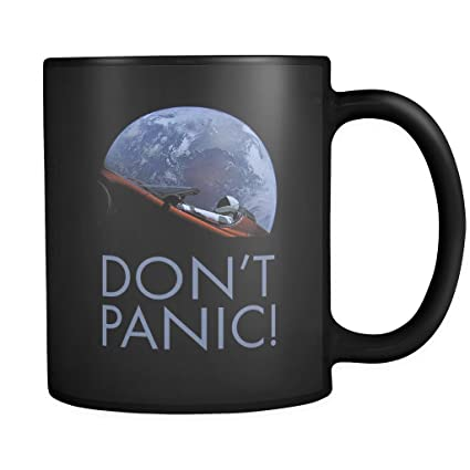 4cc925717 Amazon.com: 10 Different Mugs SpaceX Falcon Heavy Don't Panic ...