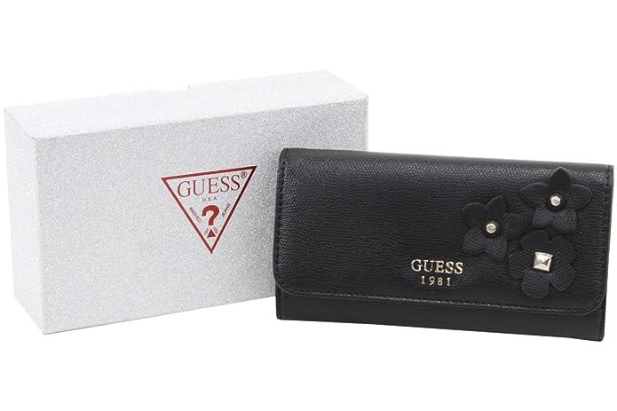 Amazon.com: Guess Mujer Liya Slim embrague Tri-Fold Wallet ...