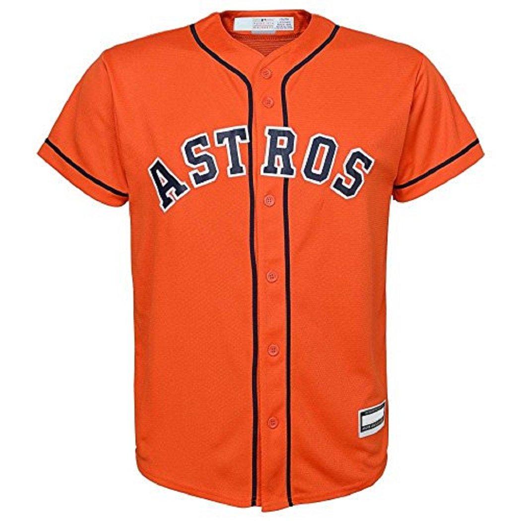 Outerstuff Houston Astros Blank Word Mark Orange Youth Cool Base Alternate Jersey