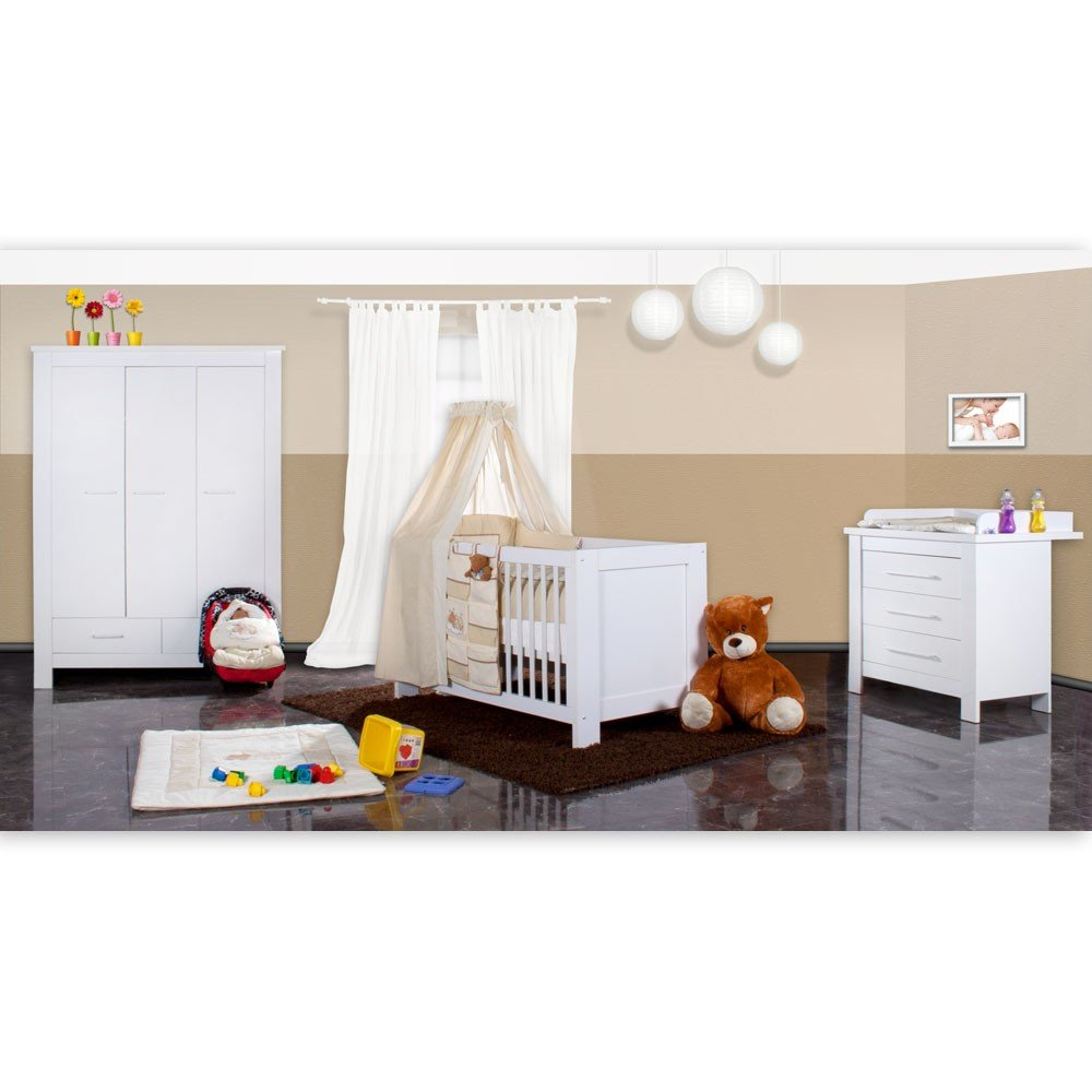 Luxus Babyzimmer Enni mit 3 türigen Kleiderschrank