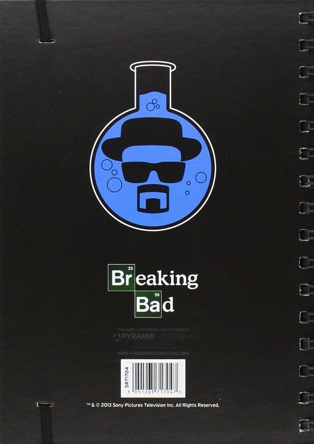 Breaking Bad Spain SR71704 - Libreta A5 Breaking Bad Heisenberg, Cuaderno Serie TV