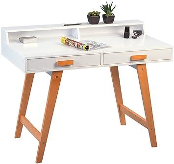 Kinderschreibtisch holz  HomeTrends4You 648026 Schreibtisch, Holz, weiß, 110.0 x 58.0 x 85.0 ...