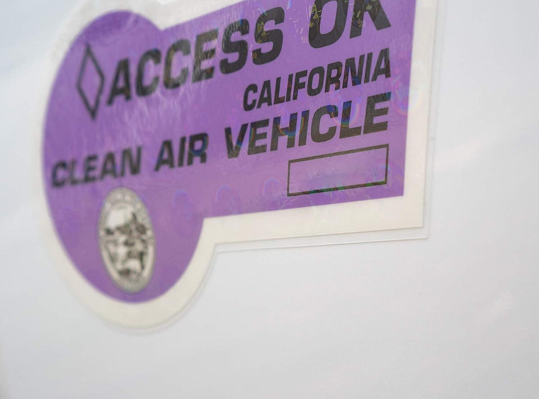 2019 Purple Edition Nikola Pro California HOV Lane Sticker Reusable Cling Backing Kit