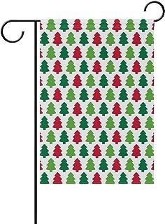 MALPLENA Color Christmas Season Trees Bandiera Bandiera da Giardino Garden Premium Resistente alla Muffa, Poliestere, 1, 28x40(in)