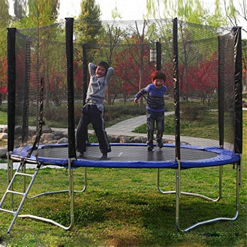 Utheing 12ft 4 Arch 8 Pole Trampoline Enclosure Safety Net