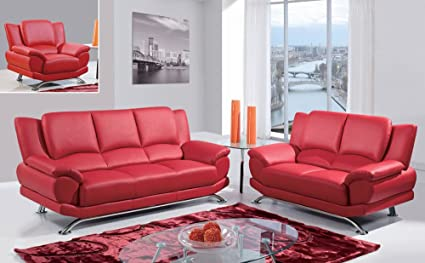 Amazon.com: Global Furniture Usa 9908 3 Piece Bonded Leather ...