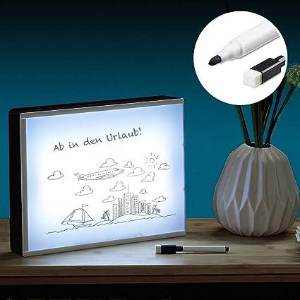 Monsterzeug Leuchtkasten Zum Zeichnen Led Light Box Diy Mit Stift Folie Marker Leuchtschild Lichtbox Batteriebetrieb Do It Yourself Kino
