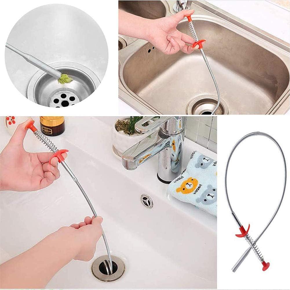 Drain Snake Clog WENTS 6PCS Serpiente de Drenaje Drenaje Flexible Remover Drain Snake Drain Relief Cleaner Tool for Sink para Cocina Ba/ño Fregadero de Tube Drain Cleaning Fitting