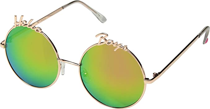 Amazon.com: Betsey Johnson Hello - Gafas de sol redondas ...