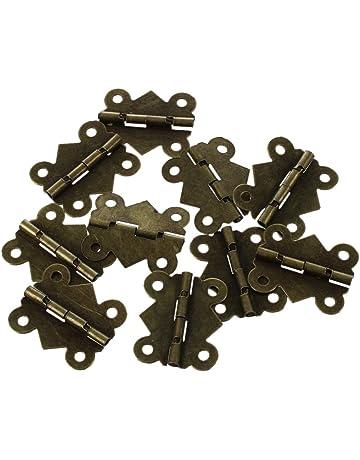 Bisagras para puerta de armario (10 unidades, tamaño pequeño, hierro), diseño