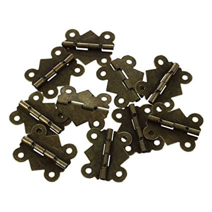 10Pcs Mini Iron Butterfly Hinges Cabinet Drawer Door Butt Hinge
