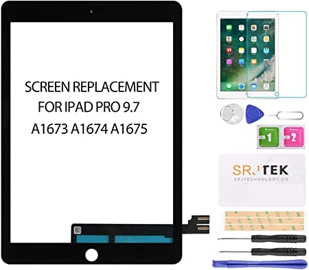 A1673 | A1674 | A1675 Premium Repair Kit RepairPartsPlus Screen Replacement Glass Touch Digitizer for iPad Pro 9.7 White