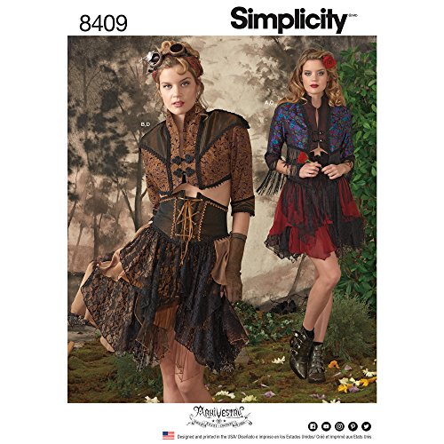 Simplicity Creative Patterns US8409R5 Sewing Pattern Costumes R5 (14-16-18-20-22) -