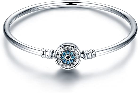 Amazon.com: BAMOER 925 Sterling Silver Lucky Blue Evil Eye ...