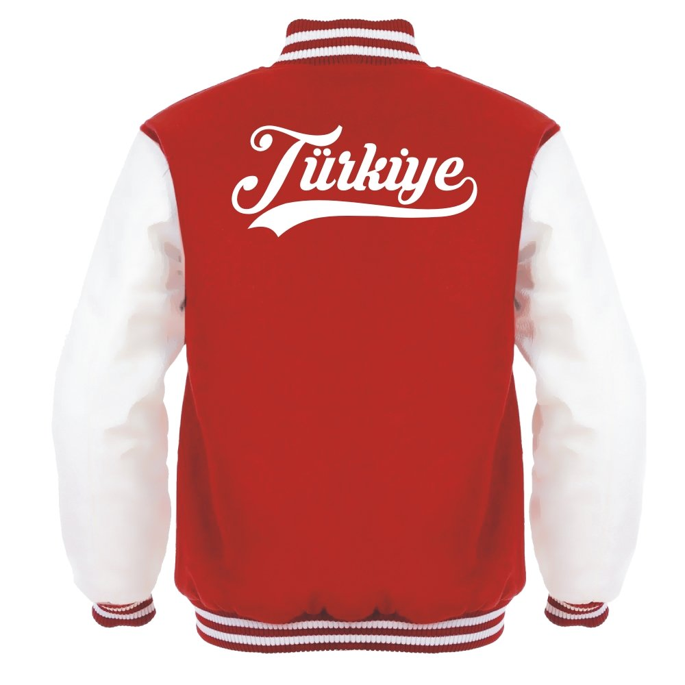 ROT Retro Aprom-Sports T/ürkei College Jacke 1