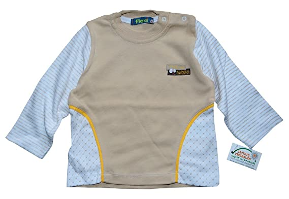 Baby T-Shirt LA Shirt Longsleeve 68 74 80 NEU Unisex Neutral Beige