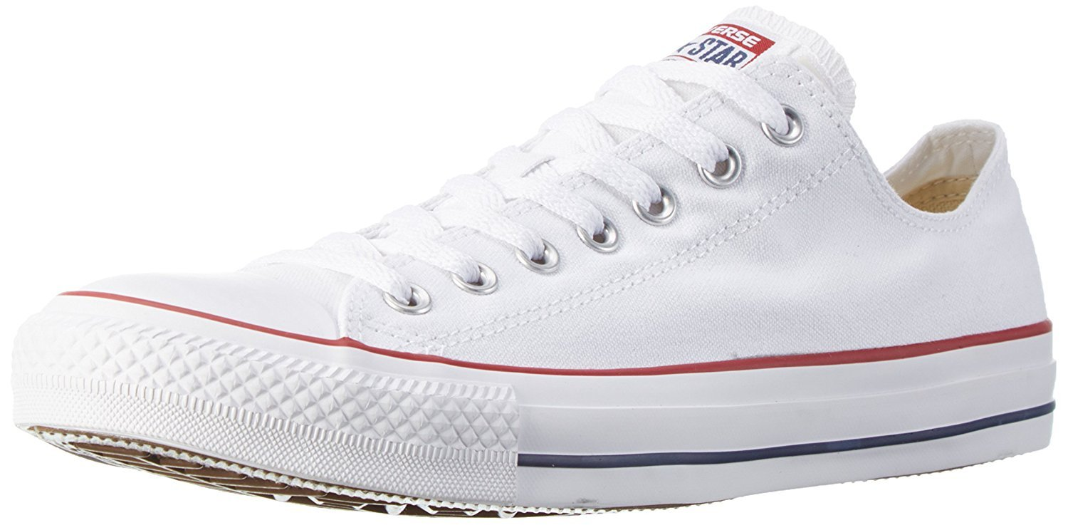Converse Unisex Chuck Taylor All Star Ox Low Top Classic Optical White Sneakers - 6 Men 8 Women by Converse