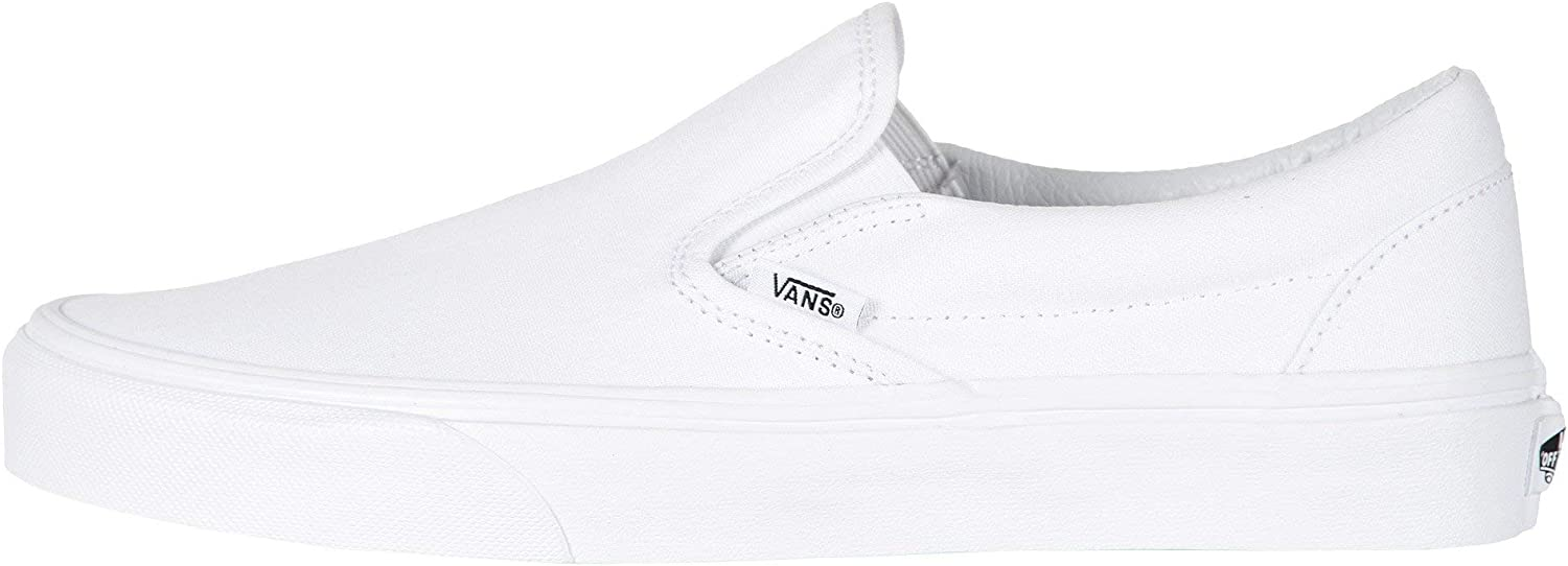 Vans Classic Slip-On Canvas, Mixte Adulte Bianco Bianco Vero