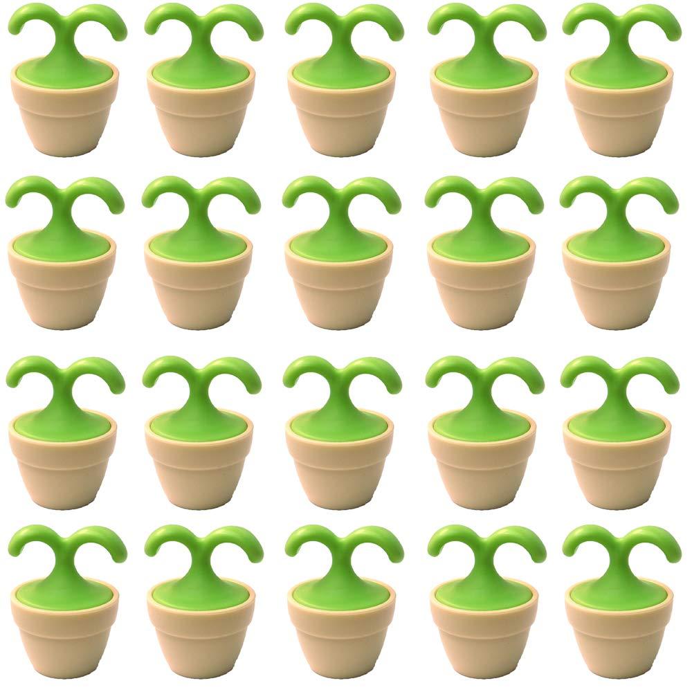 植木鉢コロコロマッサージャー 20個入り 退職転勤お礼プチギフト 専用ボックス入りラッピング サンキューシール付き(20個入り) B07QHJGH86