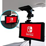 【Nanmara】車載用 Nintendo Switch クリップ ホルダー 強力クリップでしっかり固定 いろんな場所で使える スタンド 取付場所は サンバイザー・ナビモニター・後部座席 など自由自在 車載 任天堂 スイッチ ニンテンドー