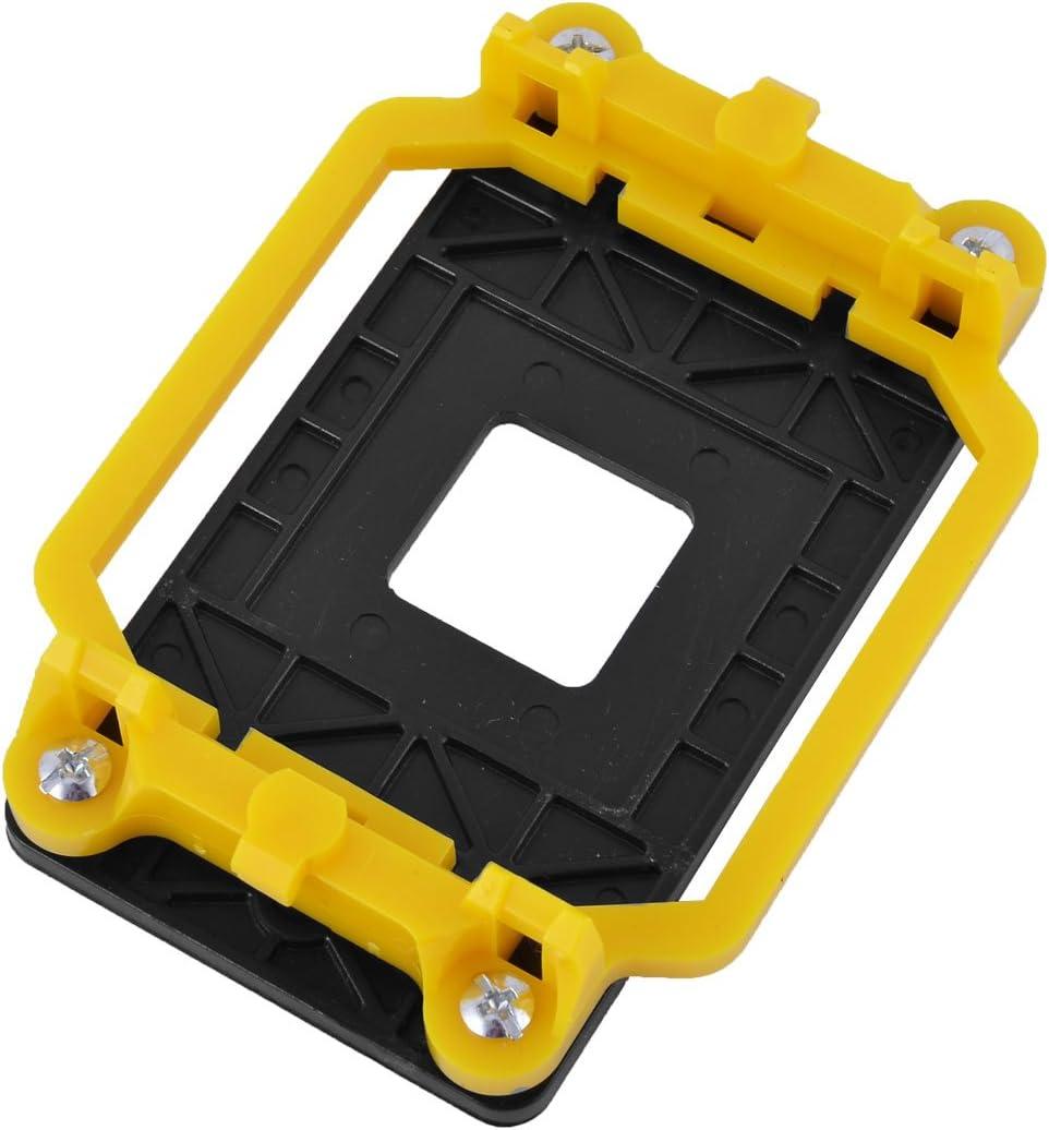 uxcell Plastic AM2 AM3 FM1 FM2 FM2 Socket CPU Fan Cooler Base Bracket Holder Yellow