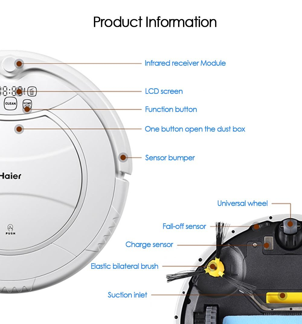 haier vacuum robot. amazon.com: haier swr-t321 pathfinder vacuum cleaner robot remote control self charging cleaning devices (us plug, gold): home \u0026 kitchen l