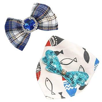 Sunny Seat - Juego de corbata para perro con clip para el pelo de ...