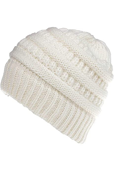 Simoner Good Times Warm Stretchy Solid Daily Skull Cap,Knit Wool Beanie Hat Black